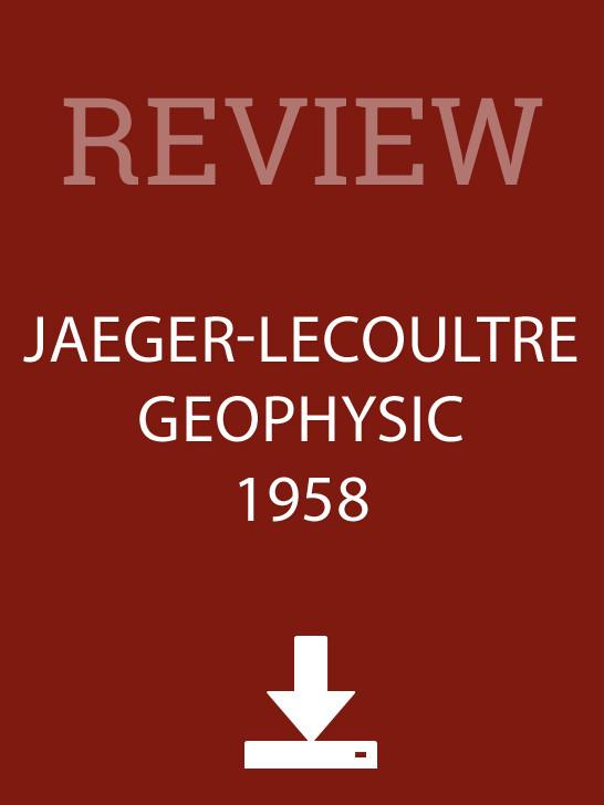 Jaeger-LeCoultre Geophysic 1958