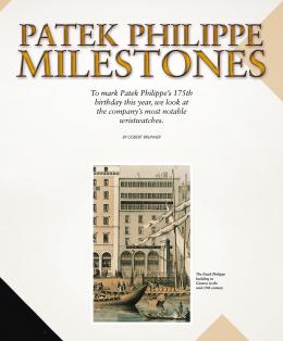 Patek Philippe Milestones
