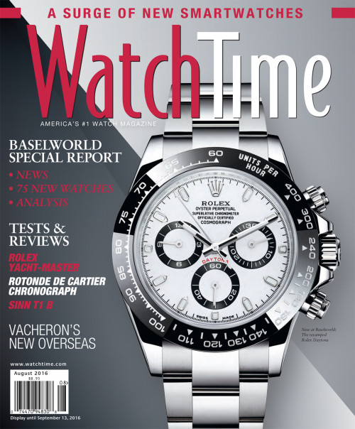 WatchTime August 2016: Rolex, Cartier, Sinn, Vacheron, Hublot, Bulgari, Seiko, Citizen, Omega