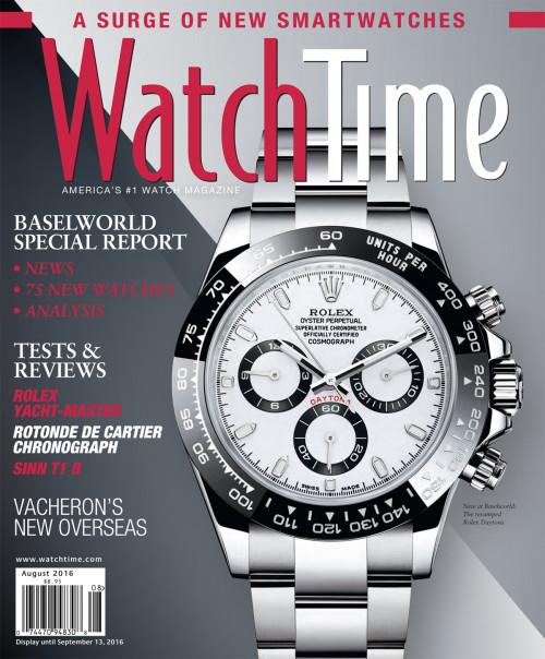 WatchTime August 2016: Rolex, Cartier, Sinn, Vacheron, Hublot, Bulgari, Seiko, Citizen, Omega