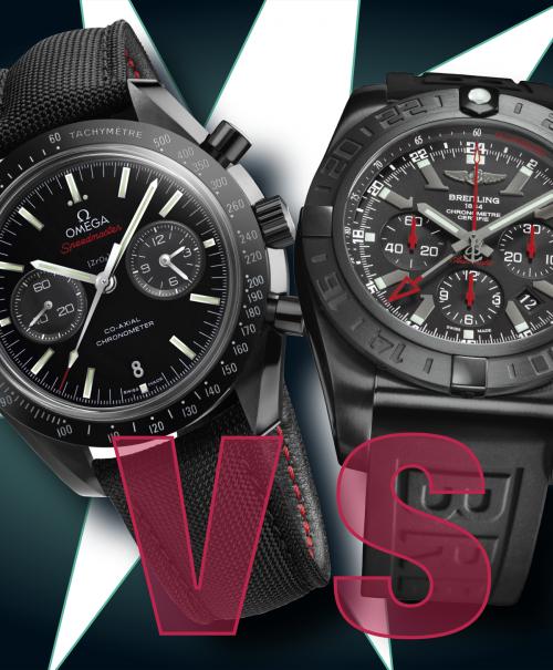 Omega Speedmaster vs. Breitling Chronomat