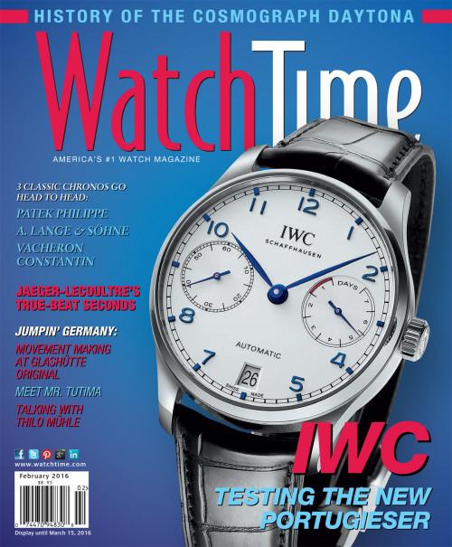 WatchTime February 2016: Patek Philippe, A. Lange & Söhne, Vacheron Constantin, Jaeger-LeCoultre, IWC, Tutima