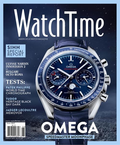 WatchTime June 2017: Ulysse Nardin, Bulgari, Patek Philippe, Tudor, Jaeger-LeCoultre, Omega, Baume & Mercier, Seiko, Montblanc