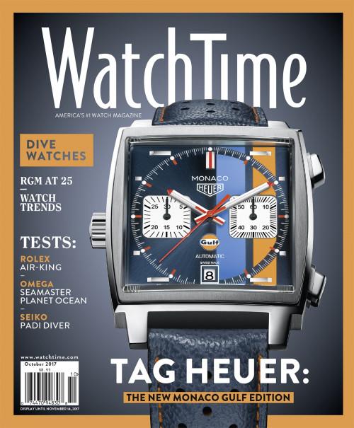 WatchTime October 2017: Tag Heuer, Rolex, Omega, Seiko, Hublot, Bulgari, RGM, Carl F. Bucherer, Patek Philippe