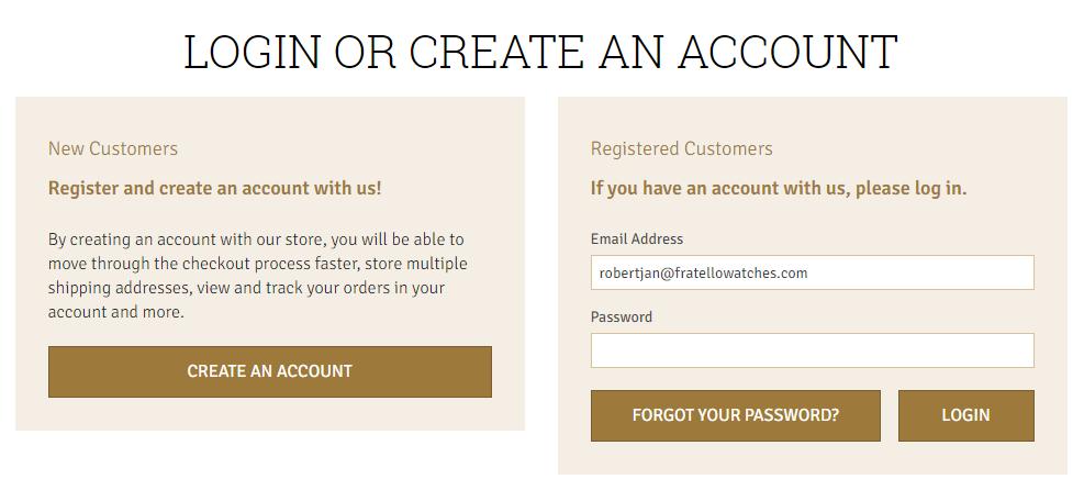 Log in or create an account